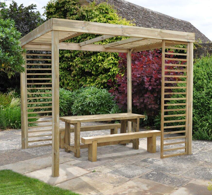 Forest garden dining 3m x pergola reviews wayfair for Kitchen designs 3m x 4m