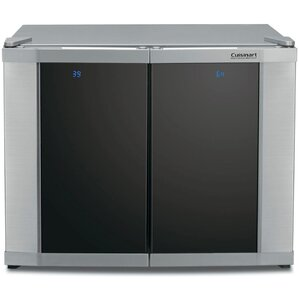 12 Bottle Dual Zone Freestanding Wine Cooler by Cuisinart