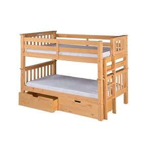 Santa Fe Mission Twin Bunk Bed with St..