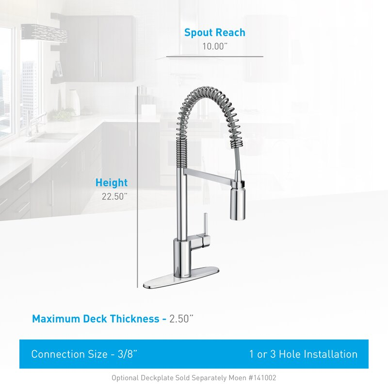 Moen Align Pull Down Single Handle Kitchen Faucet With Duralock - Moen align kitchen faucet
