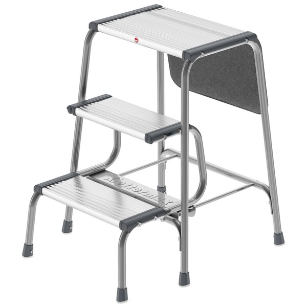 Hailo USA Inc. 3-Step Aluminum Folding Step Stool with 330 lb. Load Capacity u0026 Reviews | Wayfair  sc 1 st  Wayfair & Hailo USA Inc. 3-Step Aluminum Folding Step Stool with 330 lb ... islam-shia.org