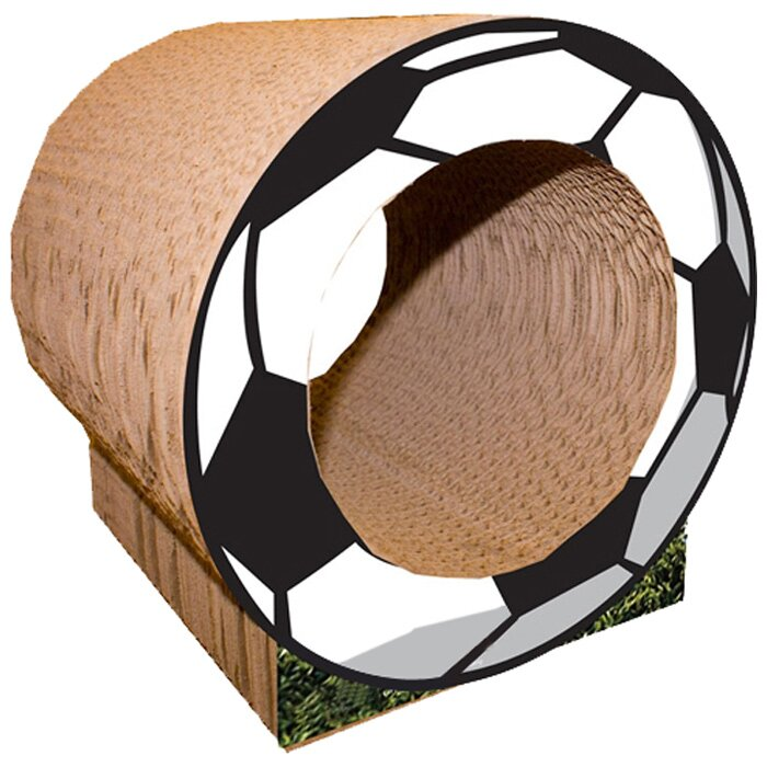 "Scratch 'n Shapes 10"" Small Soccer Ball Cat Perch"