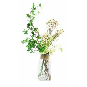 Faux Mixed Floral Arrangement in Decorative Vase