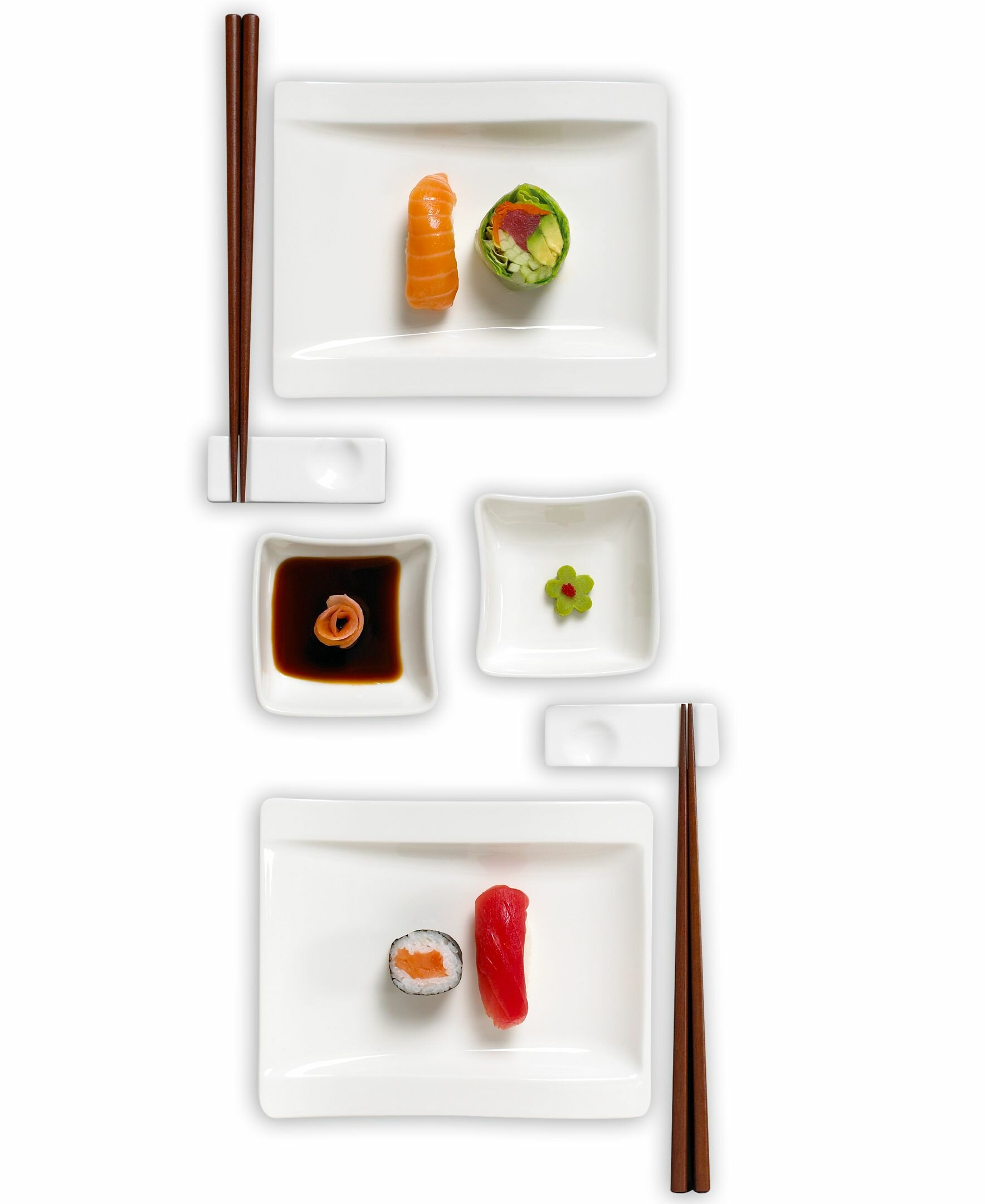 Villeroy & Boch New Wave Sushi 8 Piece Dinnerware Set, Service for 2 ...
