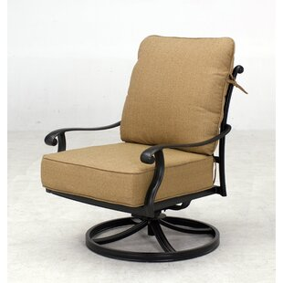 Melchior Rocker Swivel Recliner Patio Chair With Cushions Set Of 2