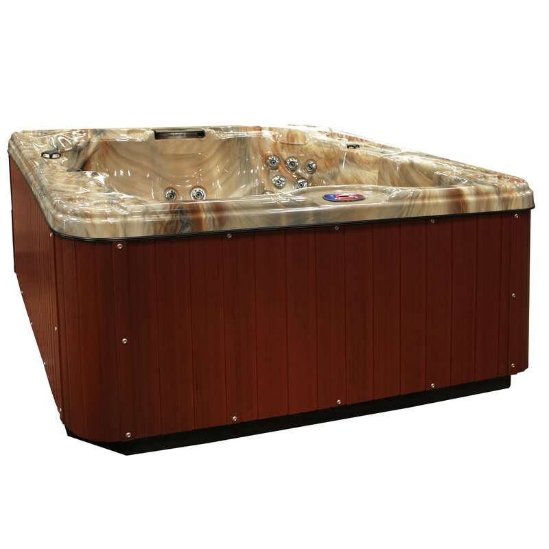 American Spas 6-Person 30-Jet Spa with Backlit LED Waterfall ...