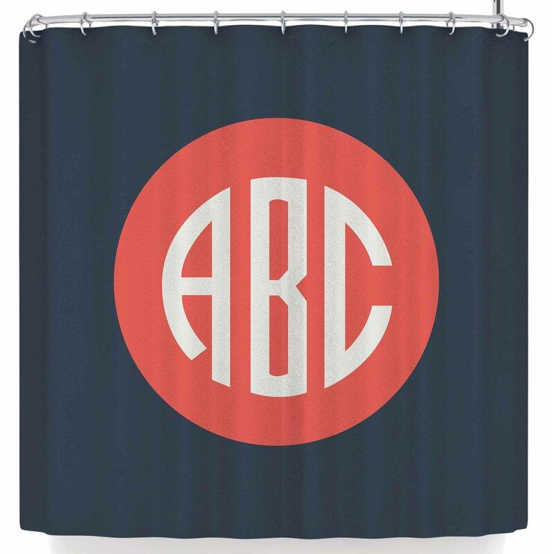 Kess Original Classic Circle Shower Curtain