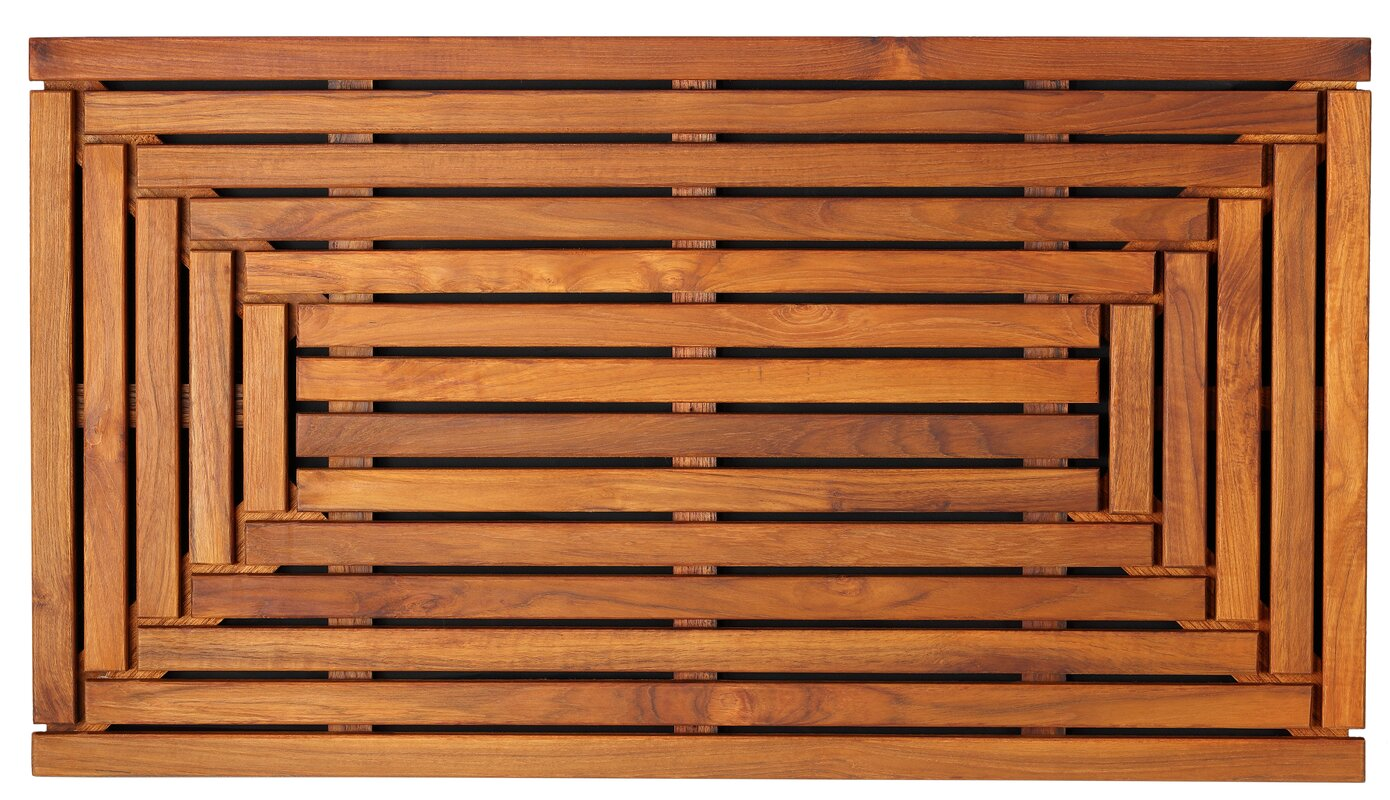 Solid Teak Wood Shower Mat