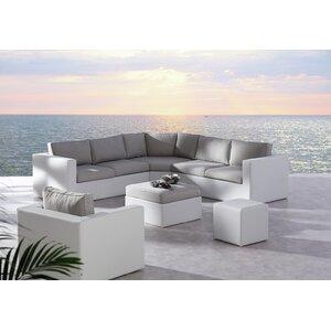 Eckteil Lounge Lara mit Auflage von Kampen Living
