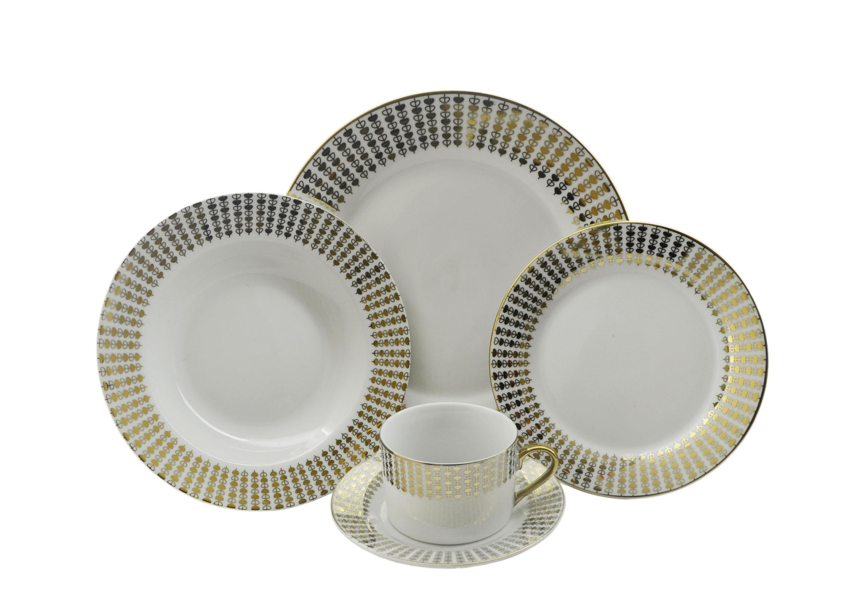sc 1 st  Wayfair & Three Star Hearts 40 Piece Dinnerware Set Service for 8 | Wayfair