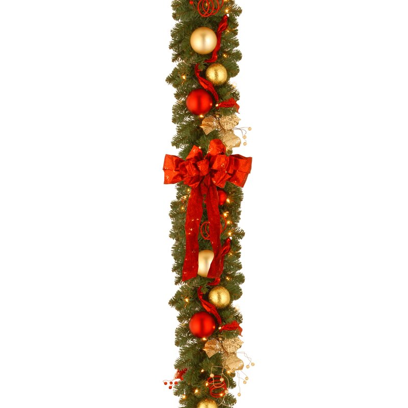 Andover Mills Decorative Pre Lit Cozy Christmas Garland
