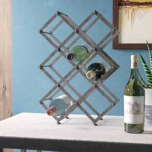 Elmhurst 9 Bottle Floor Mounted Wine Rack