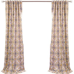Soliel Nature/Floral Blackout Thermal Rod Pocket Single Curtain Panel
