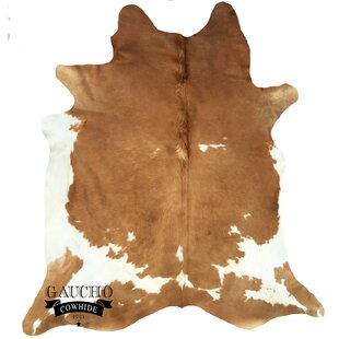 Buy Raunds Beige/White Cowhide Area Rug By World Menagerie