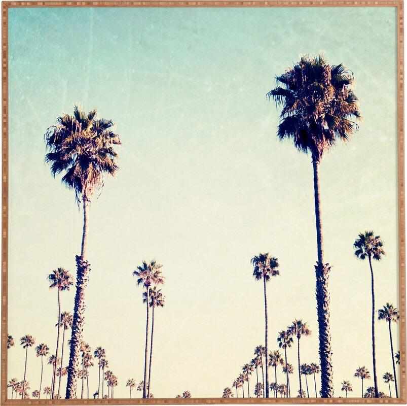 California Palm Trees Framed Wall Art Amp Reviews Allmodern
