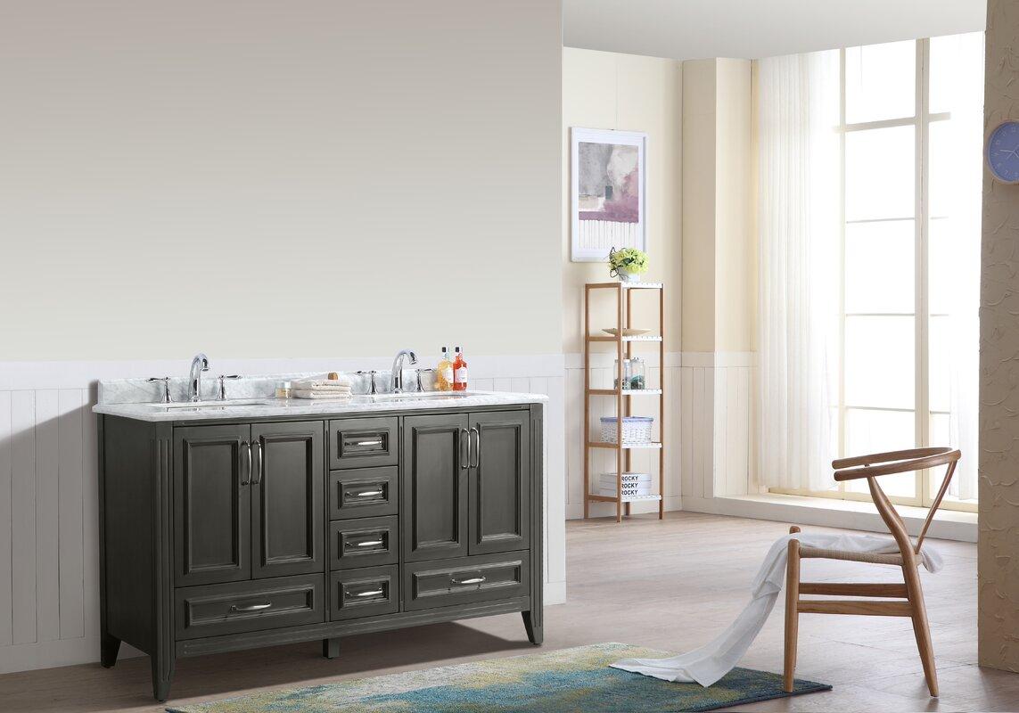 Sets bathroom vanity ari kitchen second - Jude 60 Double Bathroom Vanity Set