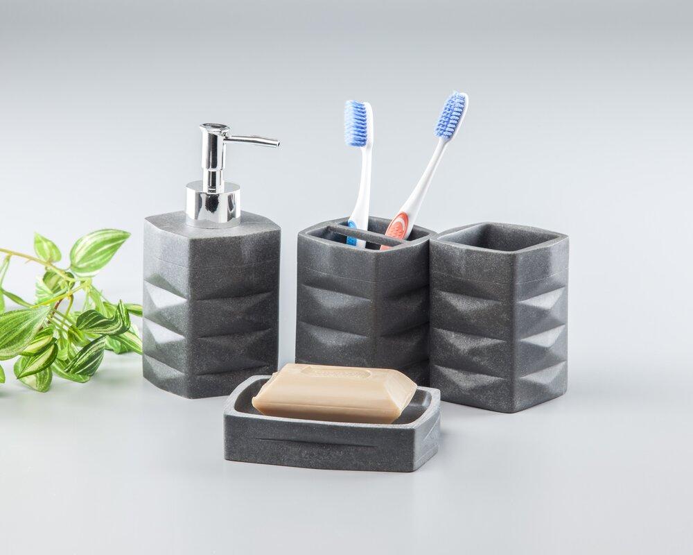 Innova imports 4 piece bathroom accessory set reviews for Bathroom 5 piece set