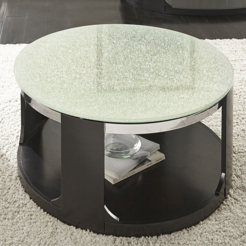 Latitude Run Charly Cracked Glass Coffee Table Reviews Wayfair