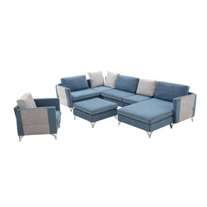 durable living room furniture. Wang Living Room Sectional with Ottoman Durable  Wayfair