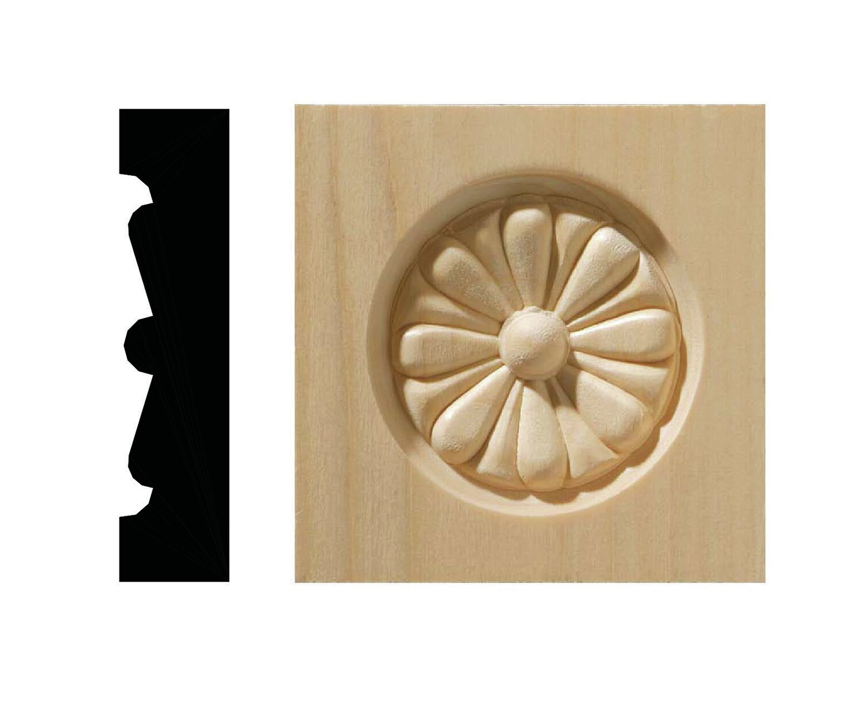 Resin furniture appliques and onlays vintage wood carved corner