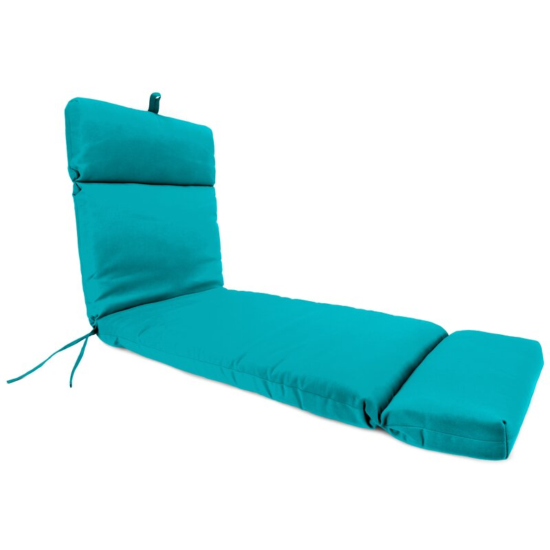 alcott hill french edge indoor outdoor chaise lounge cushion