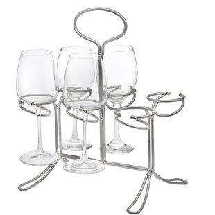 6 Bottle Tabletop Wine Glass Rack