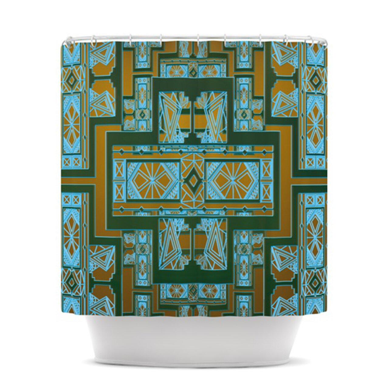 KESS InHouse Golden Art Deco Shower Curtain & Reviews   Wayfair
