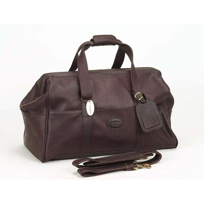 "Luggage Vintage 15"" Leather Carry-on Duffel Claire Chase Color: Café"