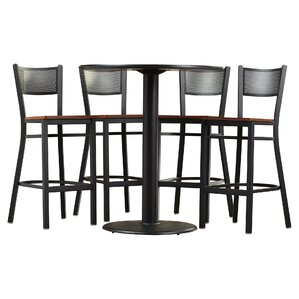 broadway 5 piece pub table set
