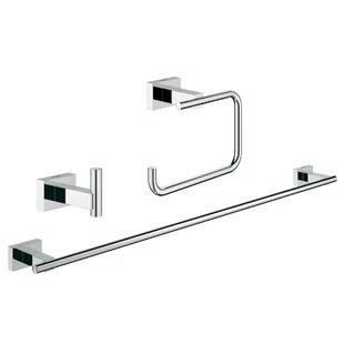 essentials 3 piece bathroom hardware set - Bathroom Hardware Sets