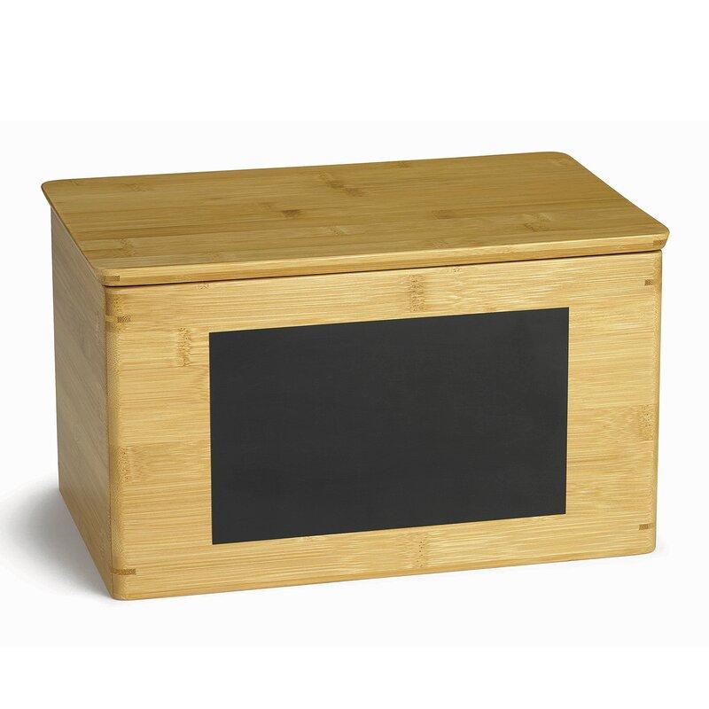 Rectangular Write On Solid Wood Storage Box