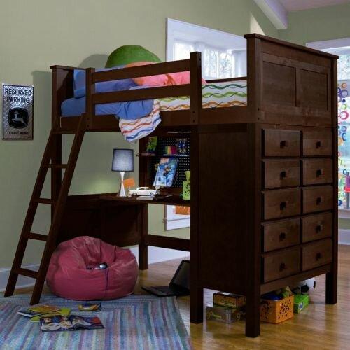 Kenai Twin Loft Bed W Dresser