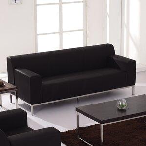 Pyron Contemporary Leather Sofa