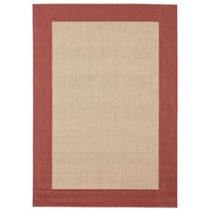 Sofia Beige/Brick Indoor/Outdoor Area Rug