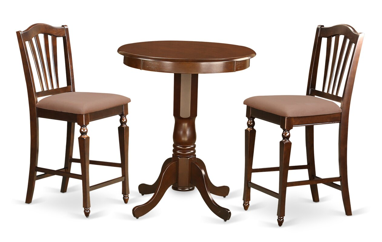 East West Eden 3 Piece Counter Height Pub Table Set