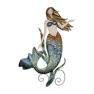 Outdoor Metal Mermaid Wall Art Wayfair