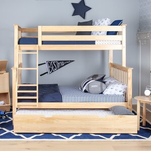 Solid Wood Twin Over Full Bunk Bed with Trundle Bed by Max & Lily