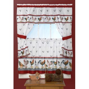 Bowman 5 Piece Top Of The Morning Cottage Window Curtain Set