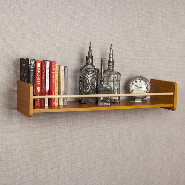 Zipcode Design Floating Shelf With Metal Railing Reviews Wayfairca Stunning Plans For Floating Shelves