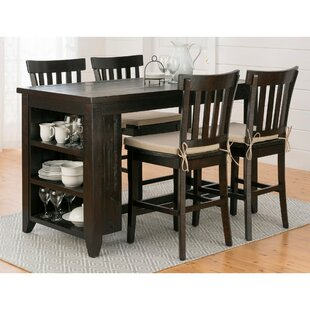Annmarie 5 Piece Pub Table Set