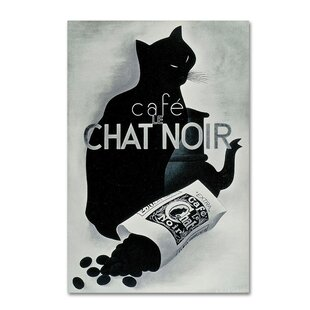 U0027Chat Noir Coffeeu0027 Wall Art On Wrapped Canvas