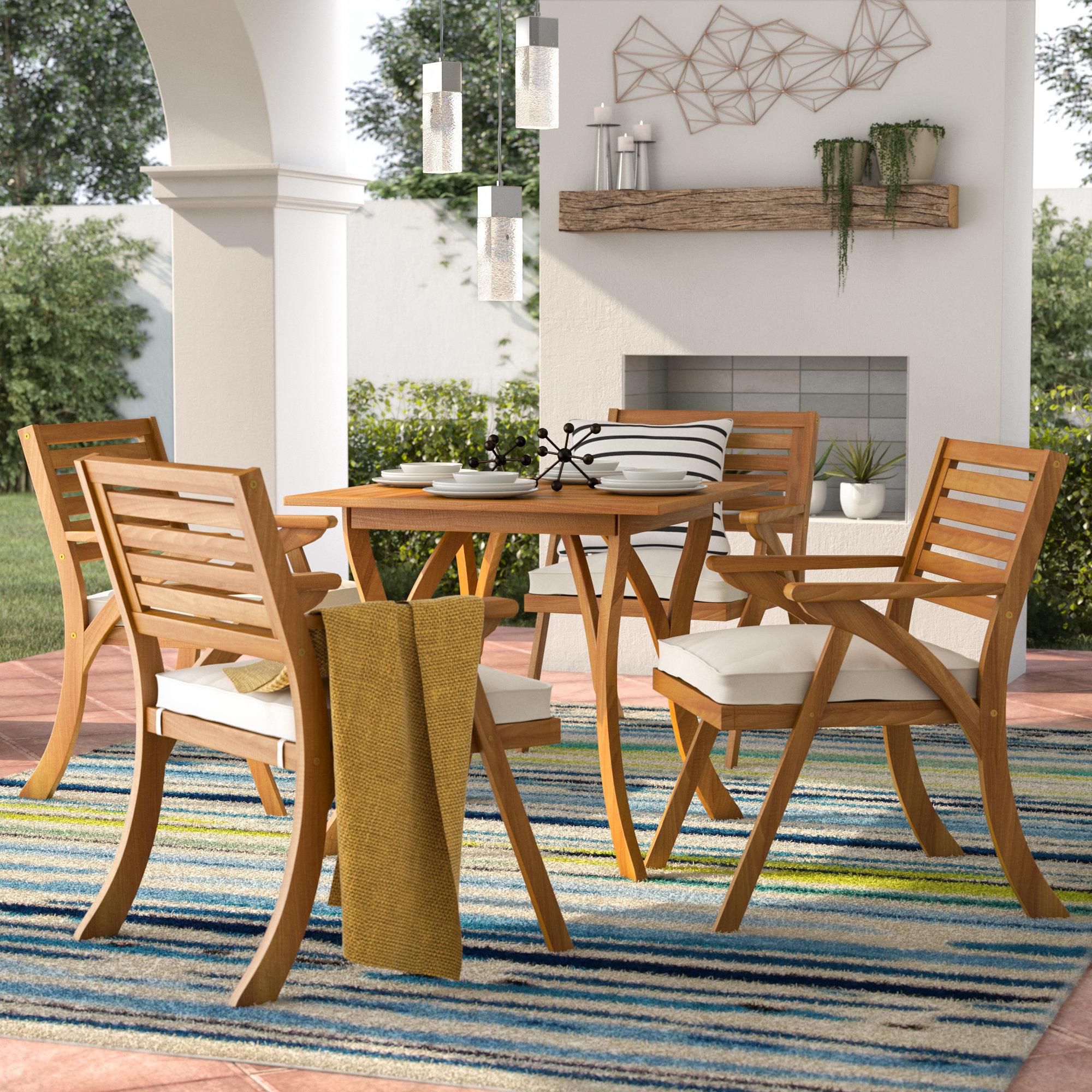 Mercury Row Ajax 5 Piece Dining Set With Cushions U0026 Reviews   Wayfair