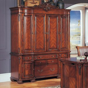 kirby credenza armoire desk with hutch