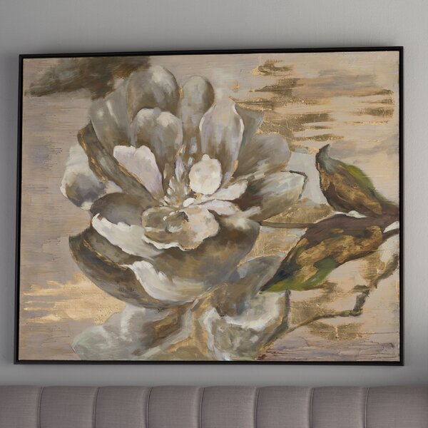 House Of Hampton Dazzling Floral Art Framed Painting Print