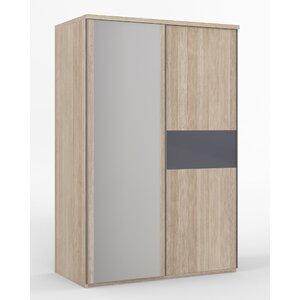 Schiebetürenschrank Porto, 211 cm H x 144 cm B x 64,5 cm T von Hokku Designs