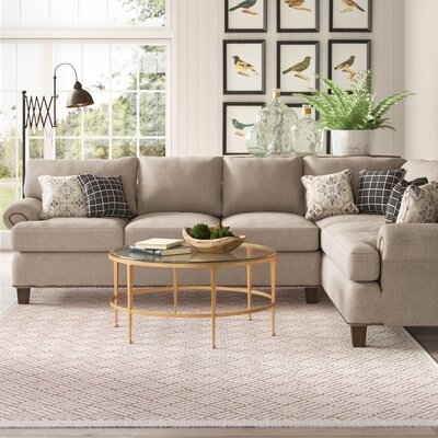 Farmhouse Amp Rustic Nailheads Sectionals Birch Lane