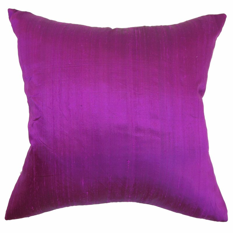 Throw Pillows Pictures : The Pillow Collection Ekati Plain Silk Throw Pillow & Reviews Wayfair