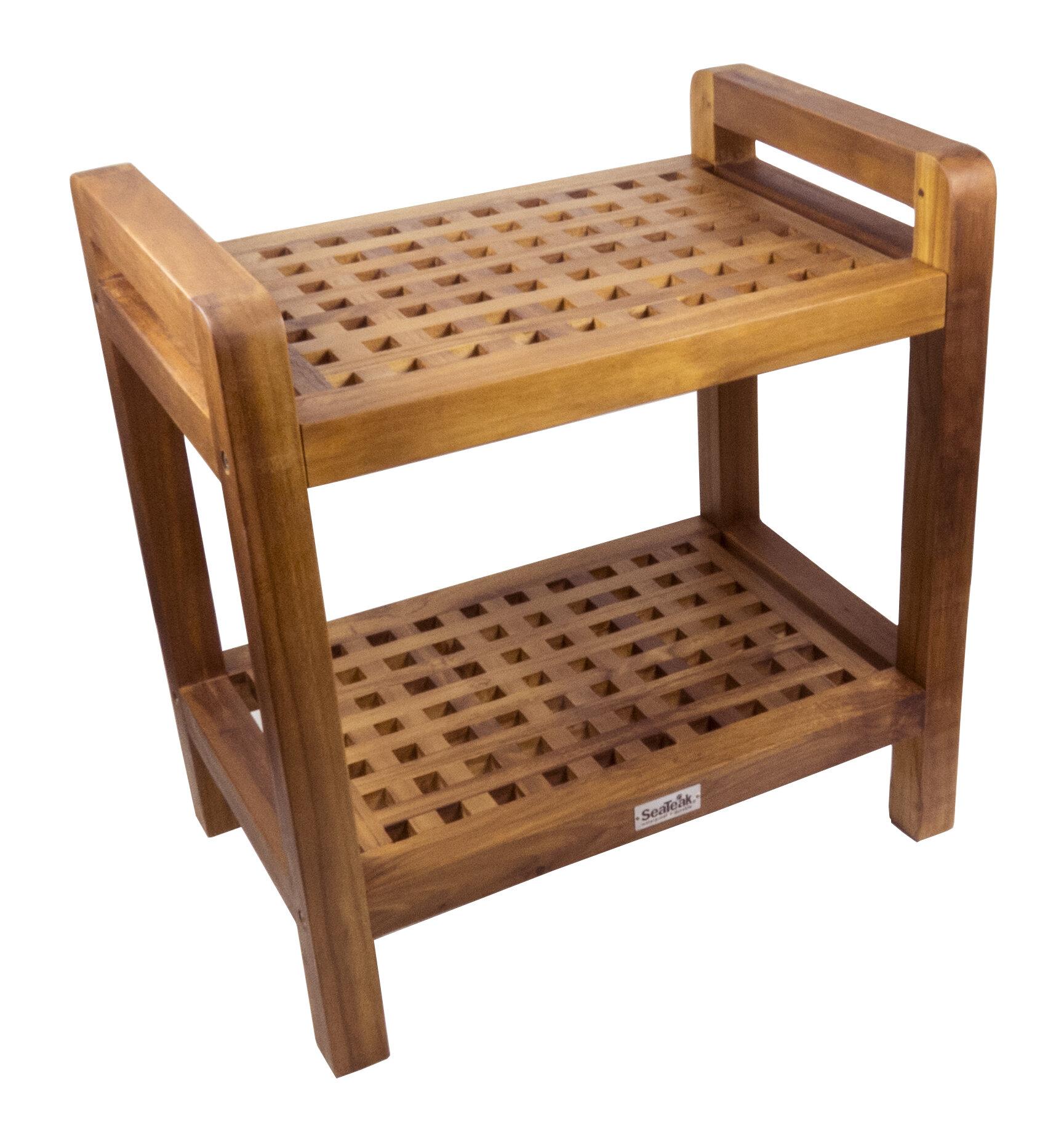 SeaTeak Shower Seat   Wayfair