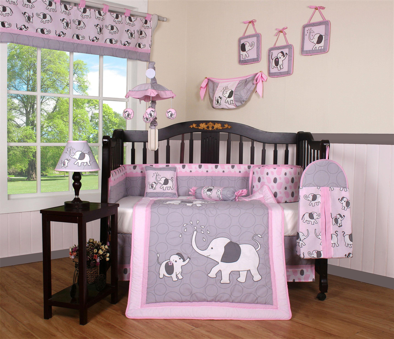 62f7ba88 Geenny Elephant Dynasty Boutique 13 Piece Crib Bedding Set & Reviews |  Wayfair