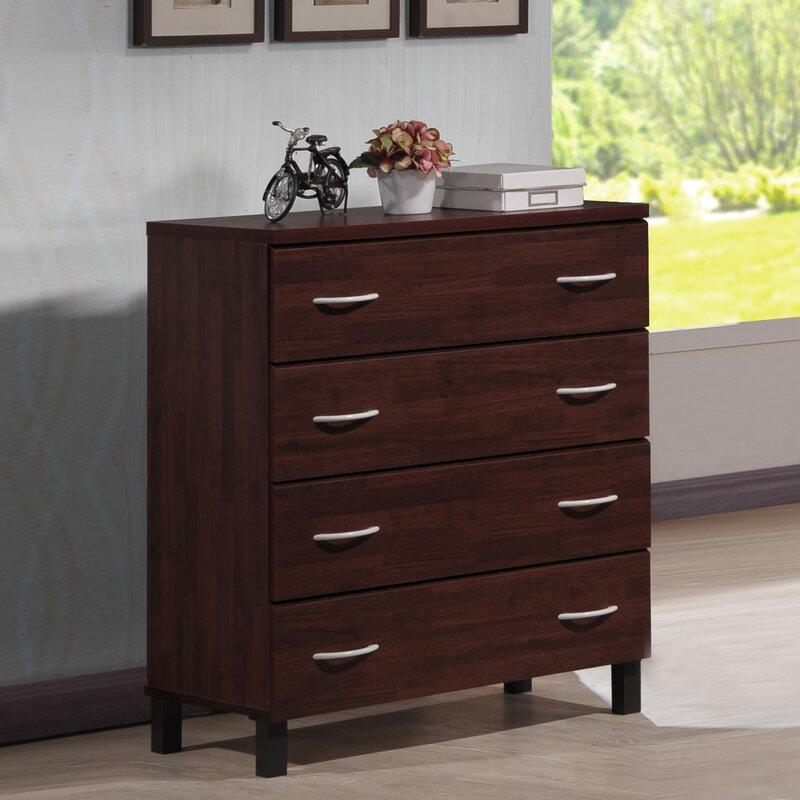 baxton studio 4 drawer chest